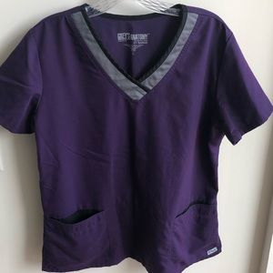 Grey's Anatomy by Barco purple scrub top